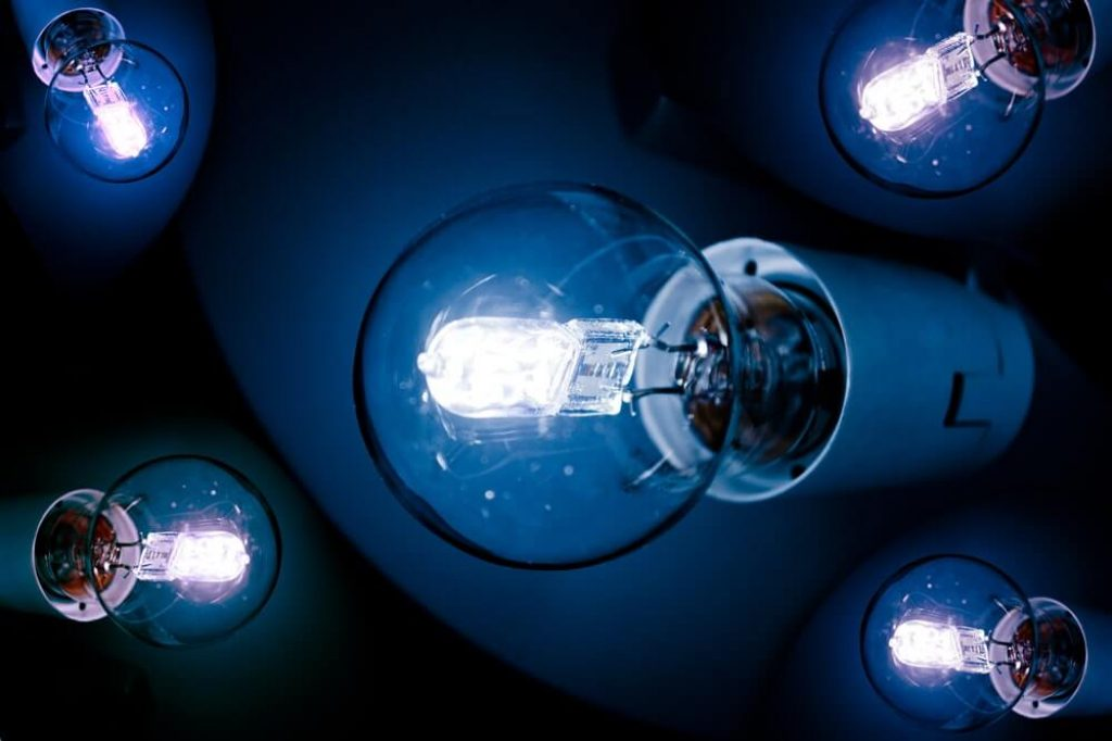 Close-up of Lightbulbs