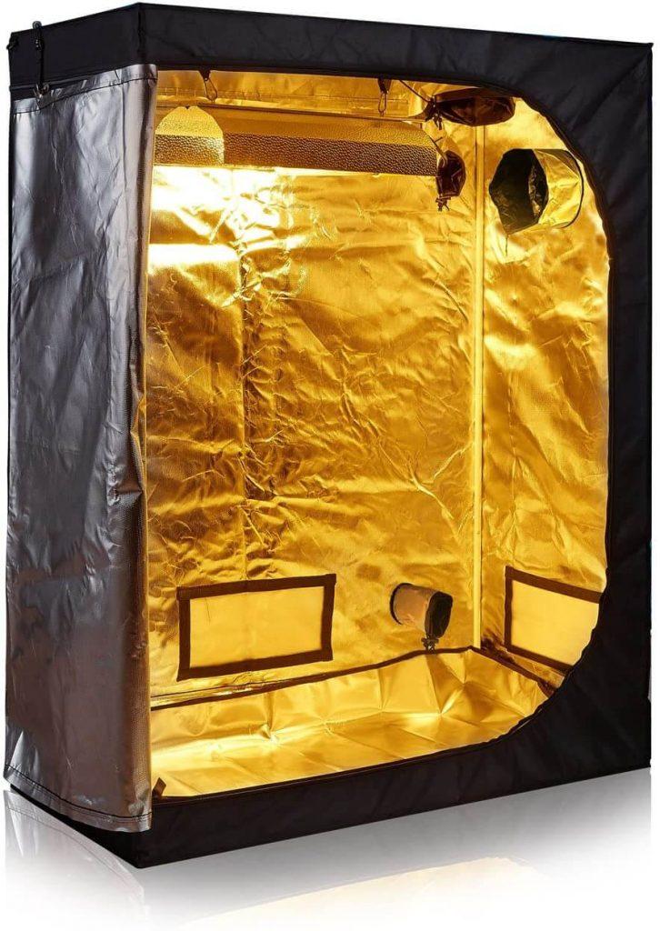 """TopoLite 48""""x24""""x60"""" Indoor Grow Tent Room 600D Mylar Hydroponic Growing Plant w/Plastic Corner (48""""x24""""x60"""")"""