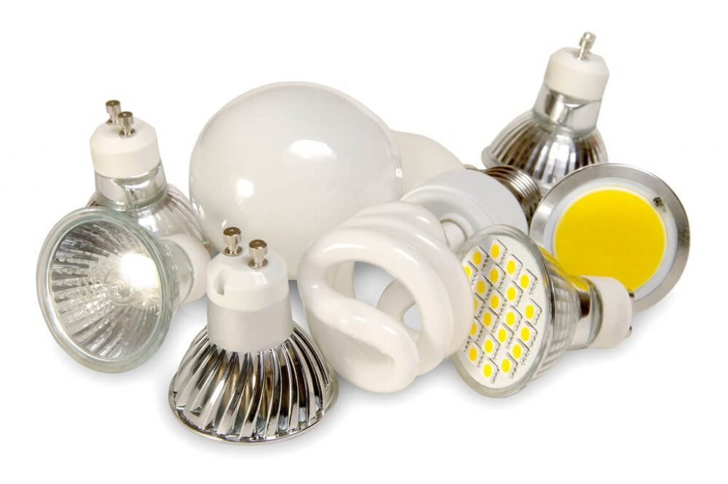 Efficient light sources on white