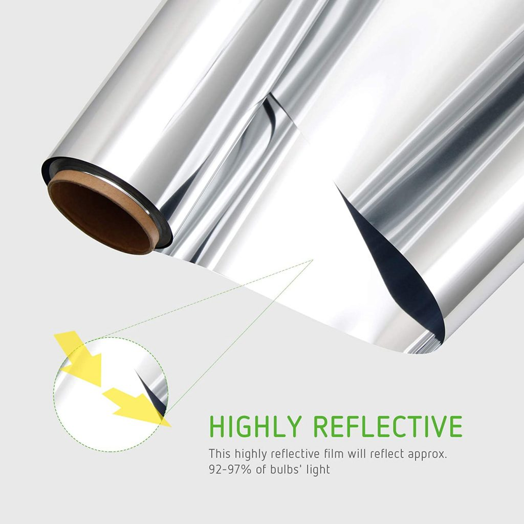 VIVOSUN Horticulture Highly Reflective Mylar Film Roll 4FT x 100FT 2 Mil