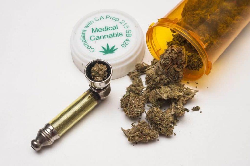 Medical marijuana and pipe