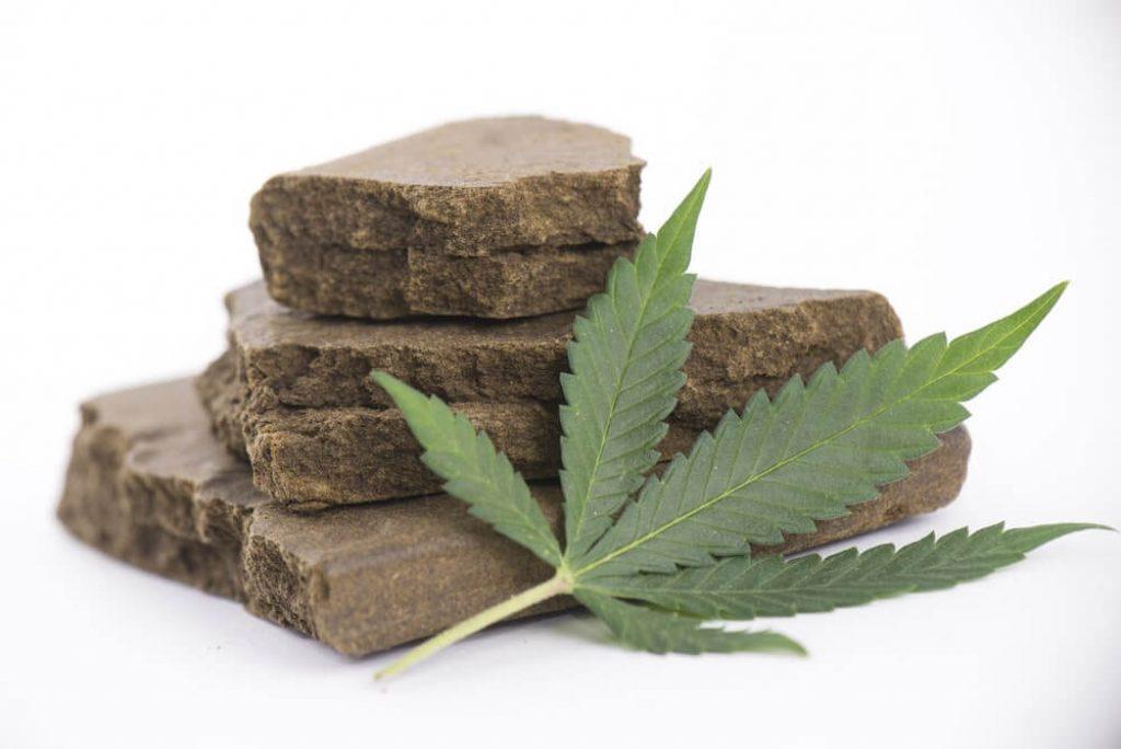 Blocks of hashish