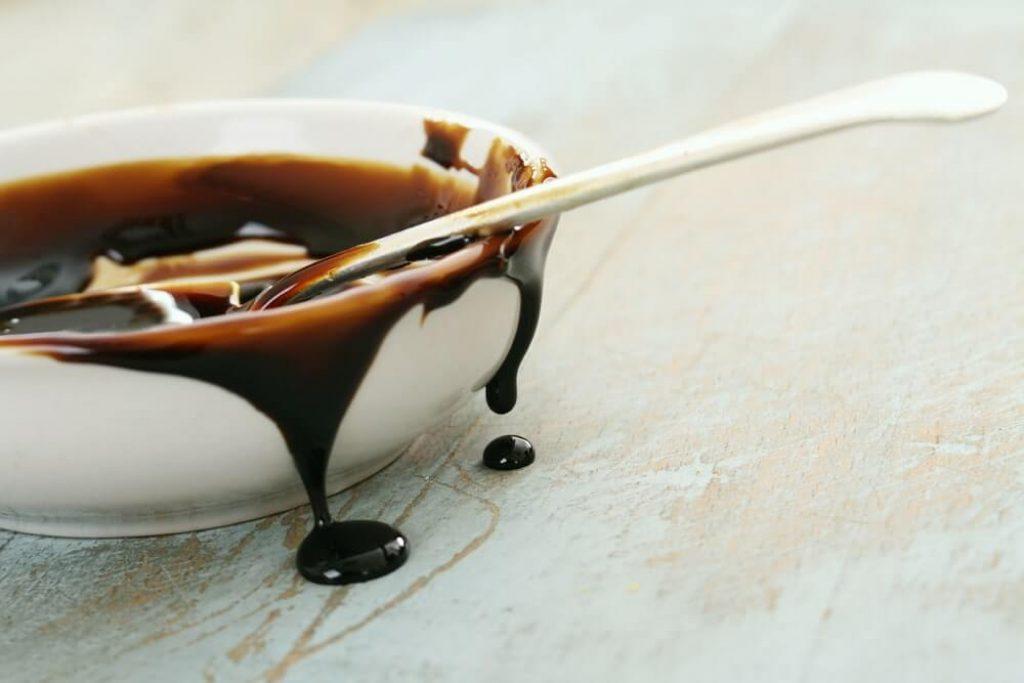 Molasses treacle in dish