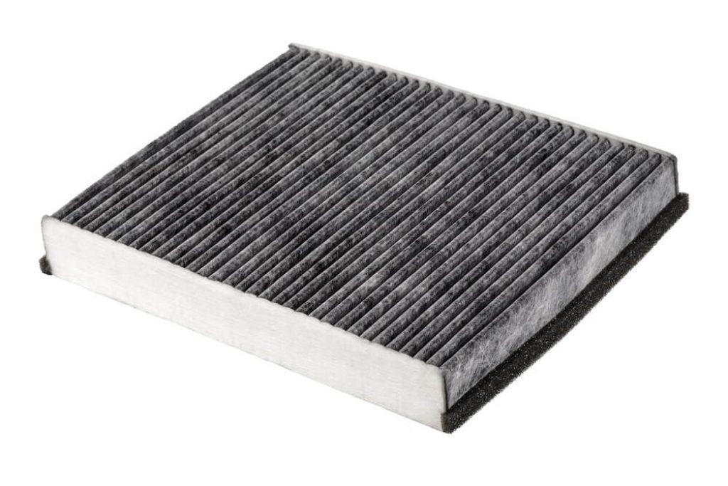 Cabin air filter carbon