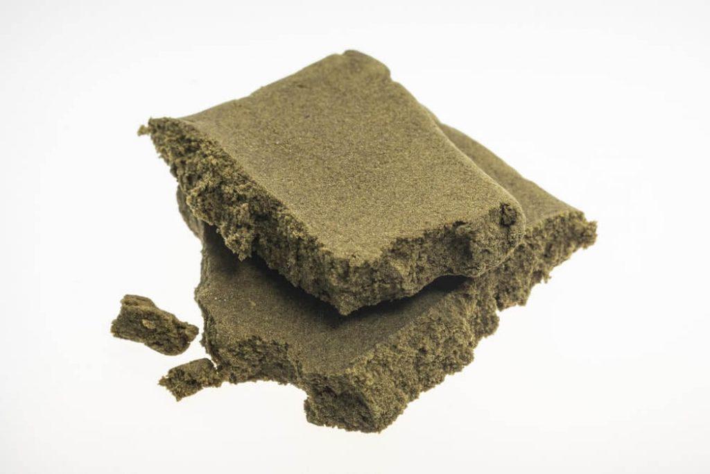 Medical marijuana moroccan cannabis pollen hashish closeup